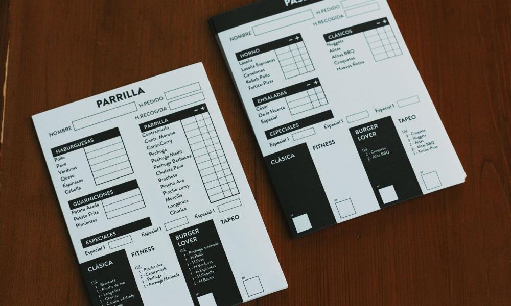 impresion bloc notas restaurante